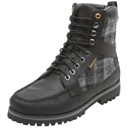 Timberland Newmarket 9-Eye Moc Toe Leather with Woolrich Fabric