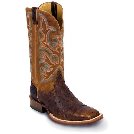 Justin Boots Justin AQHA Antique Saddle Full Quill Ostrich