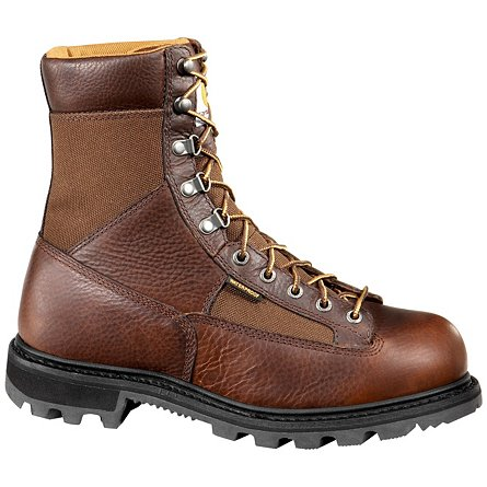 "Carhartt 8"" Low Heel Waterproof Logger Soft Toe"