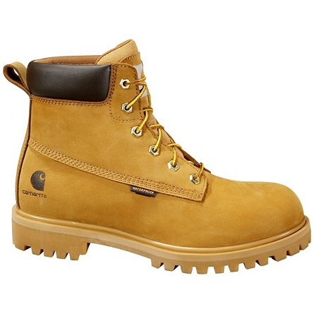 "6"" Wheat Safety Toe Work Boot"