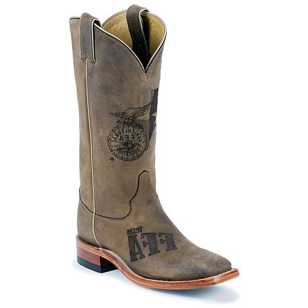 Justin Boots FFA Tan Distressed Cowhide