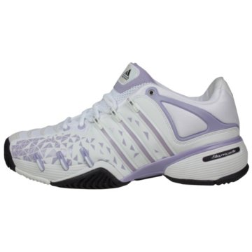adidas womens barricade 6 adilibria tennis shoes- white/purple