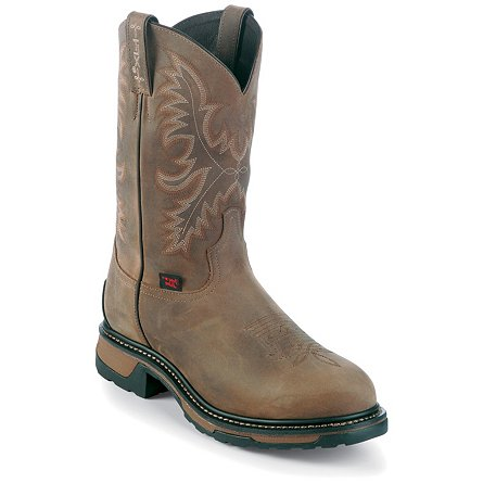 Tony Lama Tan Crazy Horse Waterproof Steel Toe