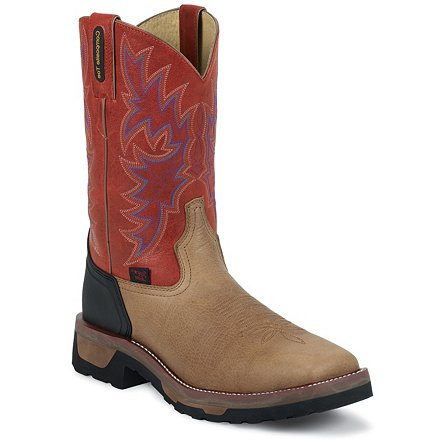 Tony Lama Drift Brown Wyoming Composition Toe