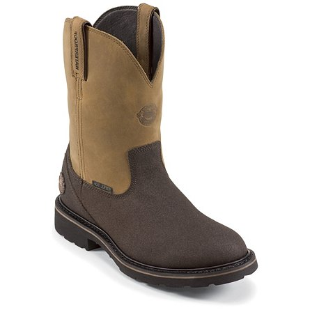 Justin Original Work Brown Tec-Tuff Waterproof
