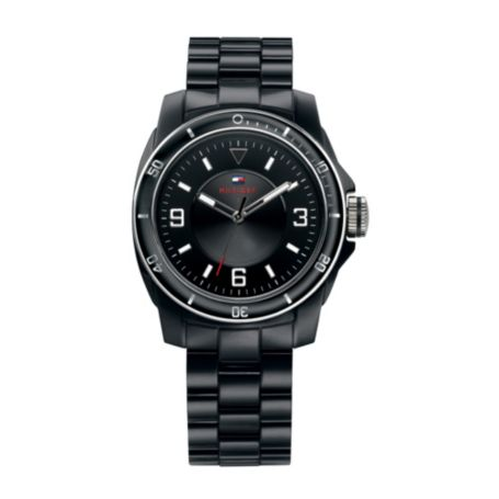 Image for BLACK PLASTIC BRACELET WATCH from Tommy Hilfiger USA