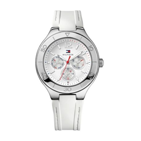 Image for WHITE SILICON STRAP WATCH from Tommy Hilfiger USA