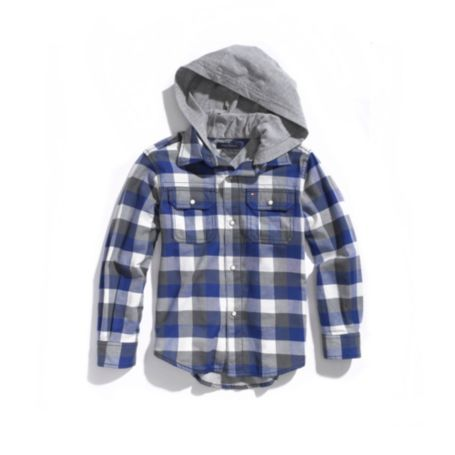 Image for HOODED PLAID SHIRT from Tommy Hilfiger USA