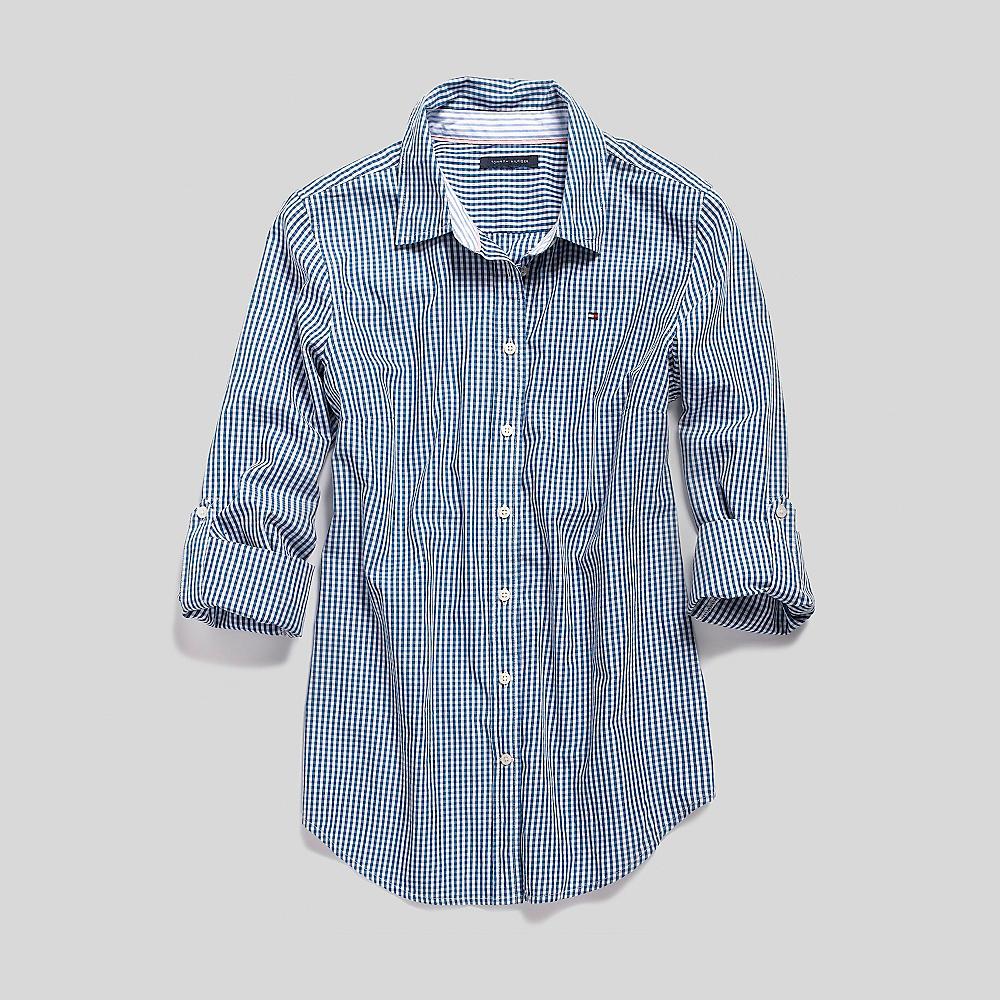 Tommy Hilfiger Mini Gingham Cotton Poplin Shirt Ebay
