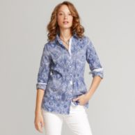 COTTON VOILE PAISLEY PRINT SHIRT