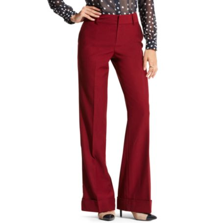 Image for HIGH WAISTED WOOL PANT from Tommy Hilfiger USA