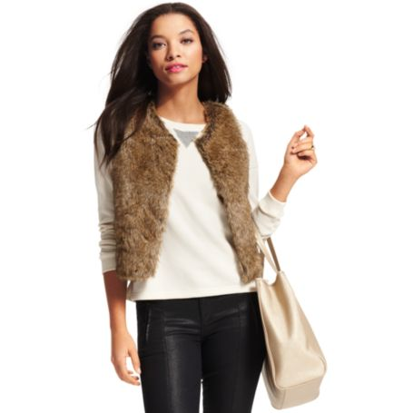Image for FUR VEST from Tommy Hilfiger USA