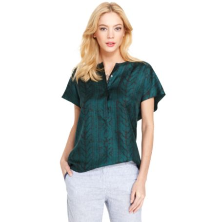 Image for SHORT SLEEVE BLOUSE from Tommy Hilfiger USA