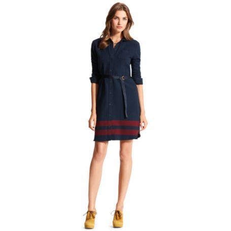 Image for STRIPE BORDER SHIRT DRESS from Tommy Hilfiger USA
