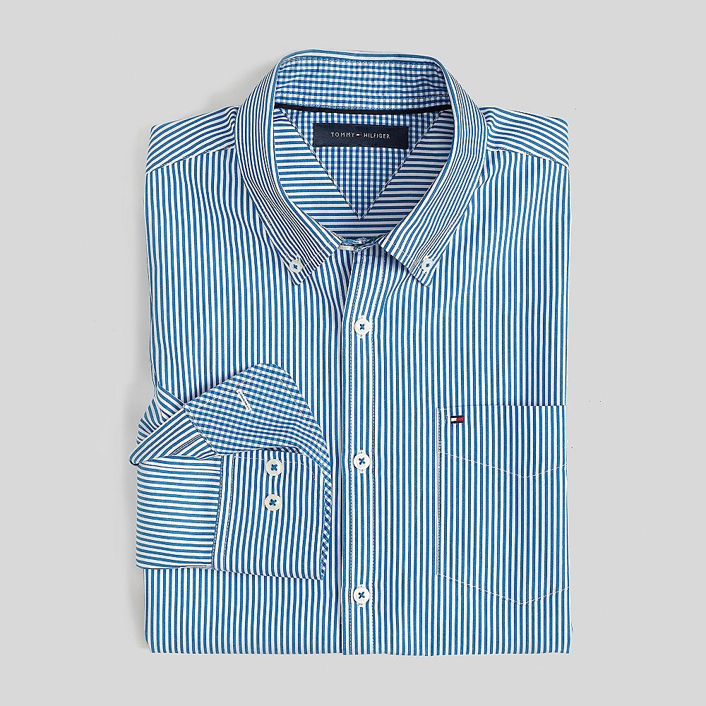 Tommy hilfiger classic stripe shirt ebay for Tommy hilfiger fitzgerald striped shirt