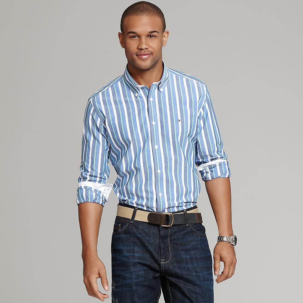 Tommy hilfiger vintage stripe shirt for Tommy hilfiger fitzgerald striped shirt