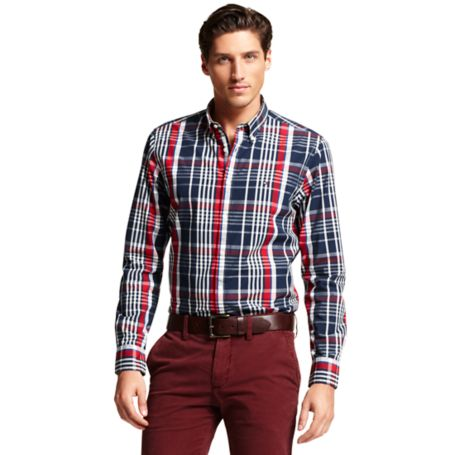 Image for NEW YORK FIT PLAID SHIRT from Tommy Hilfiger USA