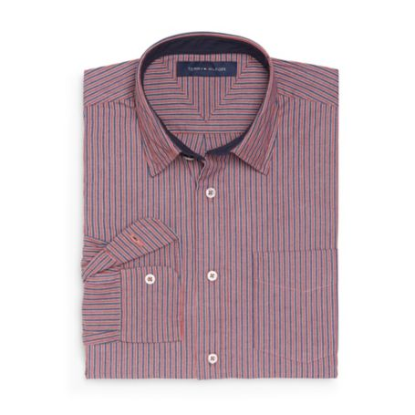 Image for CUSTOM FIT STRETCH POPLIN STRIPE SHIRT from Tommy Hilfiger USA