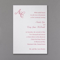 affordable monogram invite