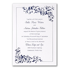 Little Love Birds - Invitation - White