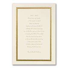 Golden Memories - Invitation