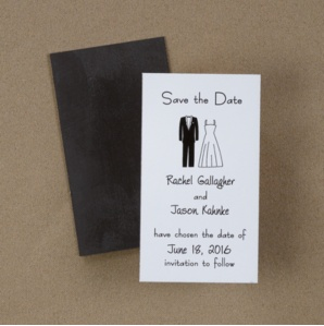 Tux And Gown - Save the Date Magnet