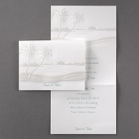 Beach scene z-fold invitation