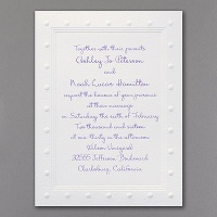 polka dots wedding invitation