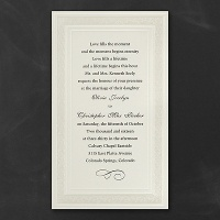 Ecru Lace Invitation