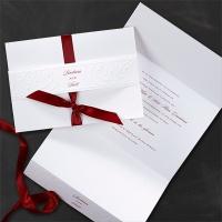 filigree white invitation