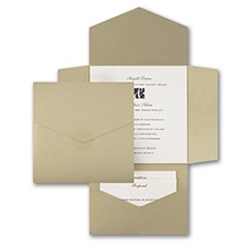 Golden Opulence - Self Mailer Invitation