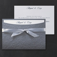 beautiful floral swirl pocket invitation