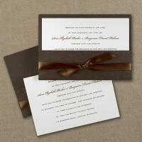 Invitation Wrapped in Mocha