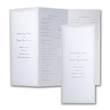 Pearl Border - Wedding Program