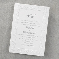 traditional white invitation