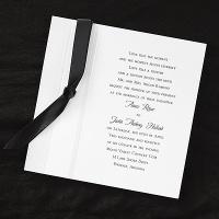 invitation boasts pearlized details