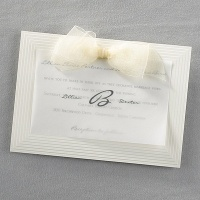 Cascading Ecru Invitations