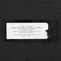 black floral accented paper