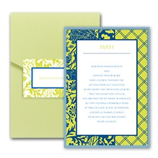 Lovely Lattice Layered Pocket Invitation