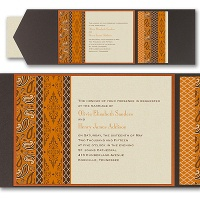 Moroccan Twilight  Layered Pocket Invitation Wedding