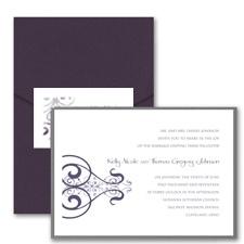 Stately Scrolls - Layered Pocket Invitation