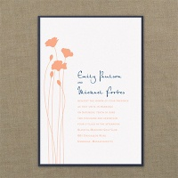 Blooming Blossoms Layered Invitation