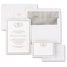 Hearts Entwined - Blank Wedding Invitation Kits