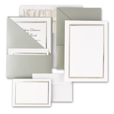 Posh Pockets DIY Wedding Invitation Kits (silver)