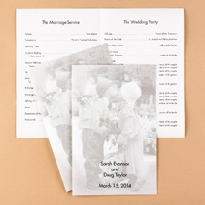 Sweethearts Wedding Program - Blank