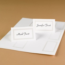 Framed in Pearl Printable Place Cards (white)