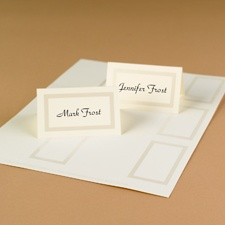 Framed in Pearl Printable Place Cards (ecru)