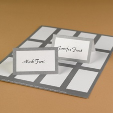 Framed in Silver Printable Place Cards