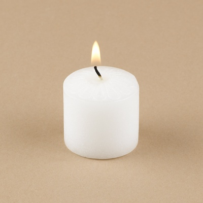 White Unscented Votive Candles