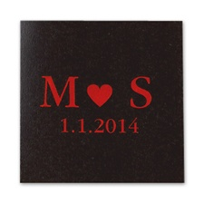 Initials and Heart - Ebony - Favor Labels